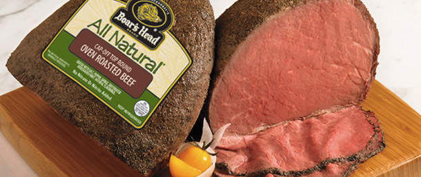 All Natural* Cap-Off Top Round Oven Roasted Beef