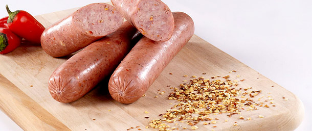 Hot Smoked Sausage (Skinless)