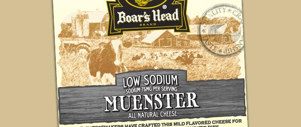 Low Sodium Muenster Cheese