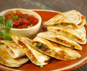 Zesty Pancetta Quesadilla