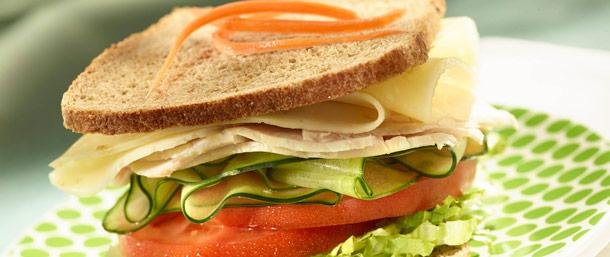 Lower Sodium Turkey & Lacey Swiss Cheese Sandwich