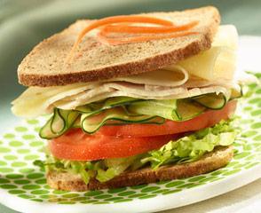 Lower Sodium Turkey & Lacey Swiss Cheese Sandwich