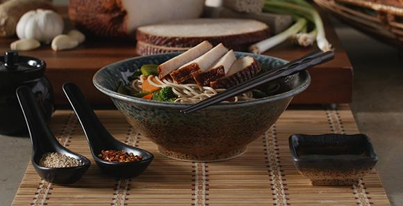 Your culinary senses will be enlightened by the rich warmth and sophisticated textures of this delectable noodle bowl.