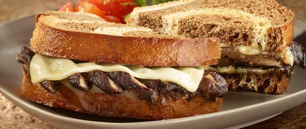 Gold Label Switzerland Swiss® and Portobello Sandwich