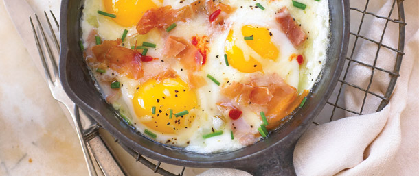 Serrano Braised Eggs