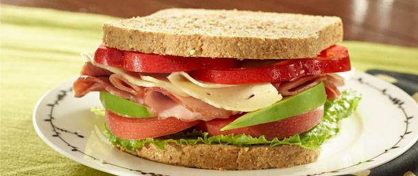 Lower Sodium Ham & Imported Swiss Cheese Sandwich