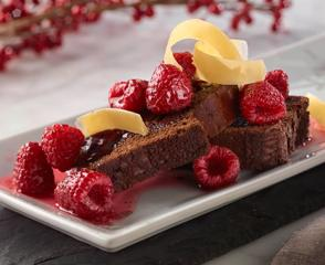 Chocolate Pound Cake with Shaved Aged Gouda Cheese