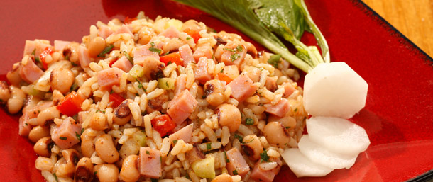 Lower Sodium Ham Hoppin' John Salad