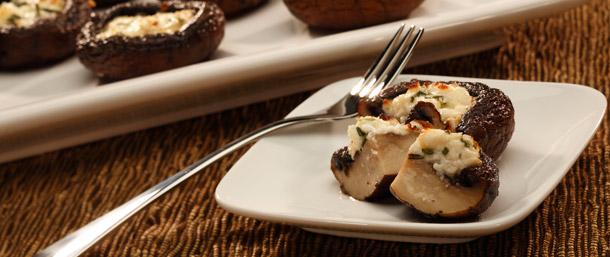 Feta Stuffed Mushrooms