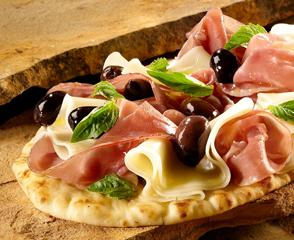 Prosciutto and Provolone Pizza