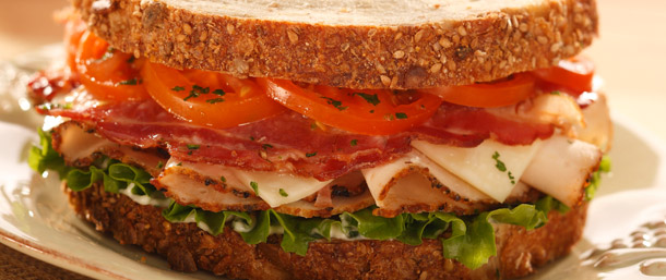 Rotisserie Seasoned Chicken Breast and Bacon Sandwich