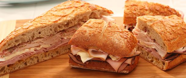 Maple Honey Ham & Chicken Panini
