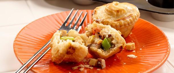 Mini Blackened Turkey Pot Pie Bites