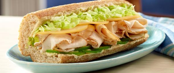 Traditional Hummus and Ovengold Turkey Hoagie