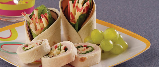 Maple Honey Turkey & Apple Wrap
