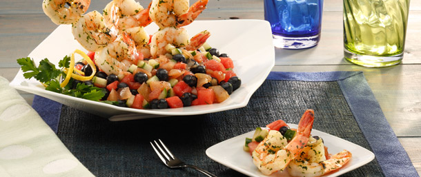Vidalia® Onion Summer Salsa with Shrimp