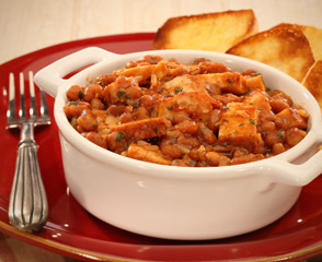 Barbecue Baked Beans and Chicken