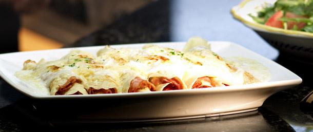Crespelle Al Pesto Parmesan Ham