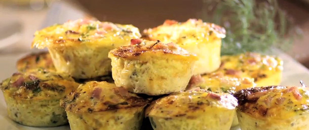 Ham & Cheese Muffin Frittatas