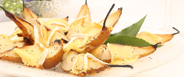 Roasted Pears with Brie