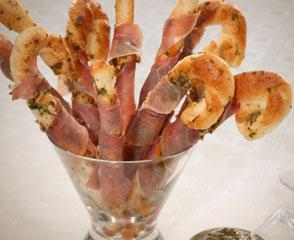 Prosciutto Pesto Breadsticks