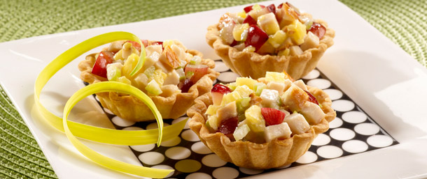 Tropical Chicken Salad Cups