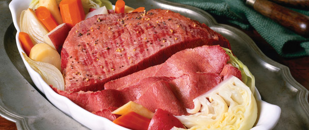 New England Style Corned Beef & Cabbage Dinner