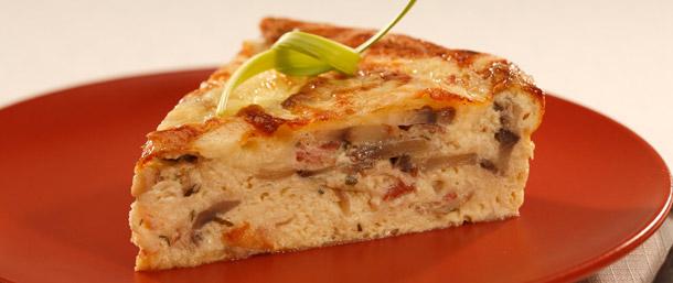 Asiago Cheese, Bacon and Egg Tart