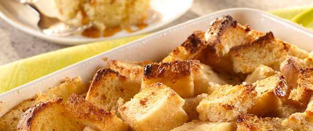 Gluten Free Havarti Cheese Bread Pudding
