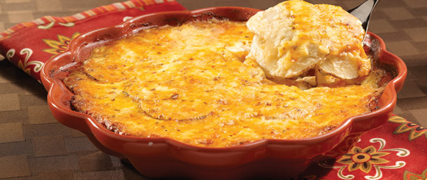 3 Pepper Colby Jack® Potatoes Au Gratin