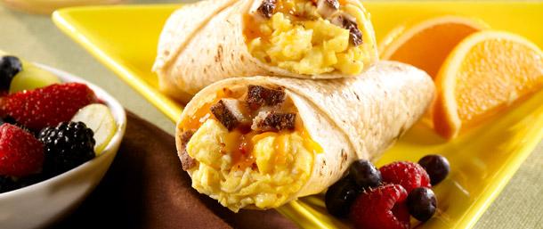 Gluten Free Spicy Breakfast Wrap