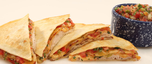 Jerk Chicken Quesadillas