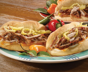 Jerk Turkey® Coco Bread Sandwich