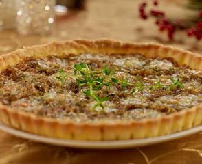 Caramelized Onion Tart with Brie Cheese