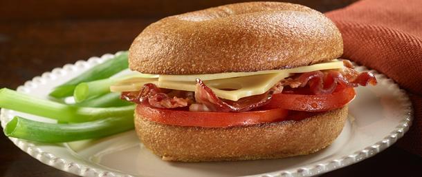 Gold Label Switzerland Swiss® & Bacon Bagel