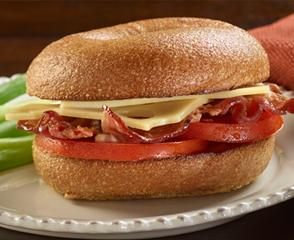 Gold Label Switzerland Swiss® & Bacon Bagel