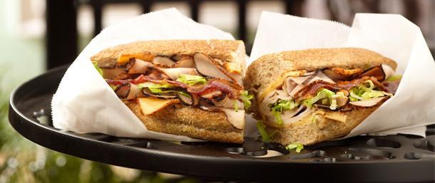 Smoked Blackened Turkey Bacon Sandwich